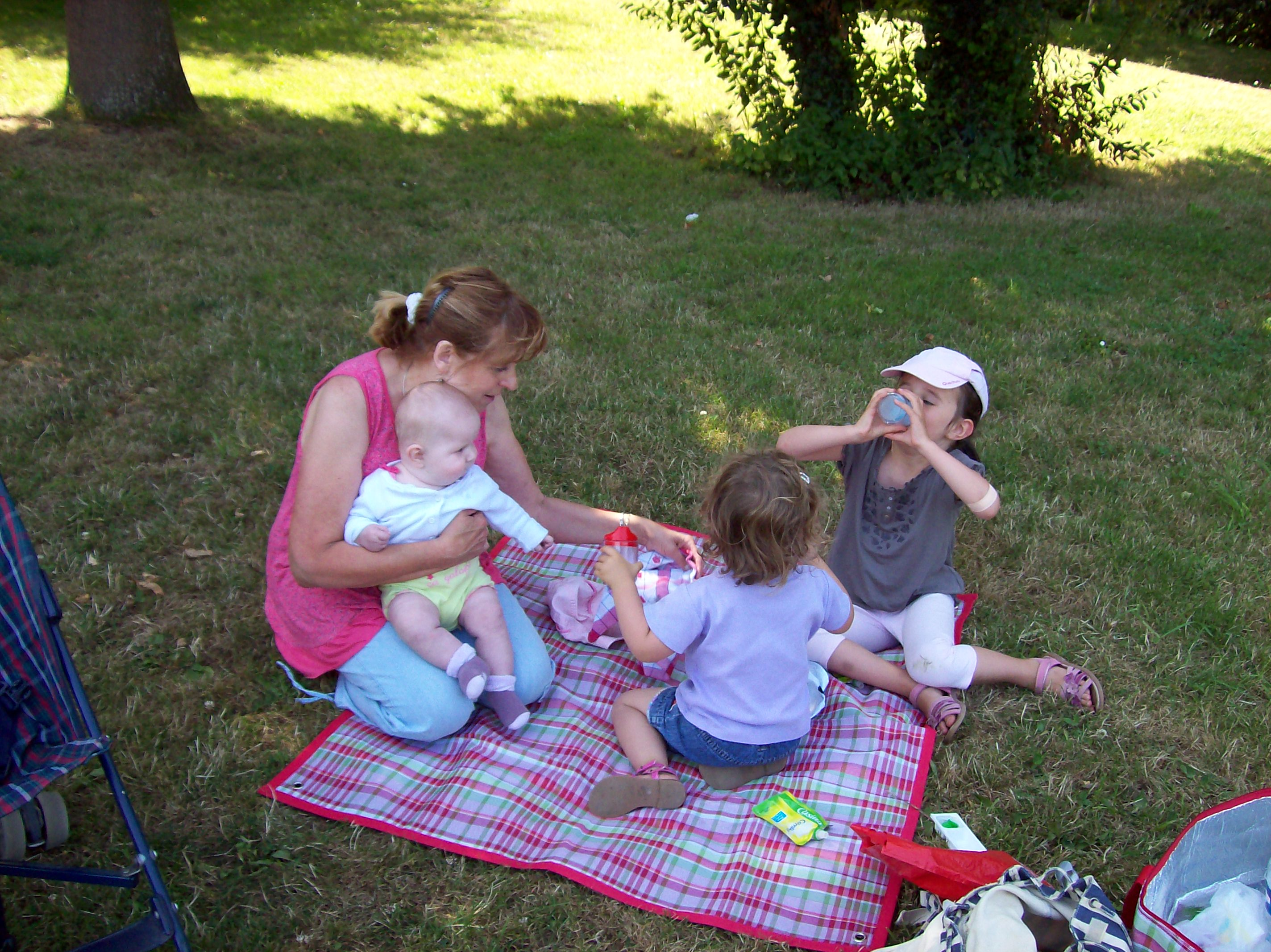 picnic avec pro et enfants