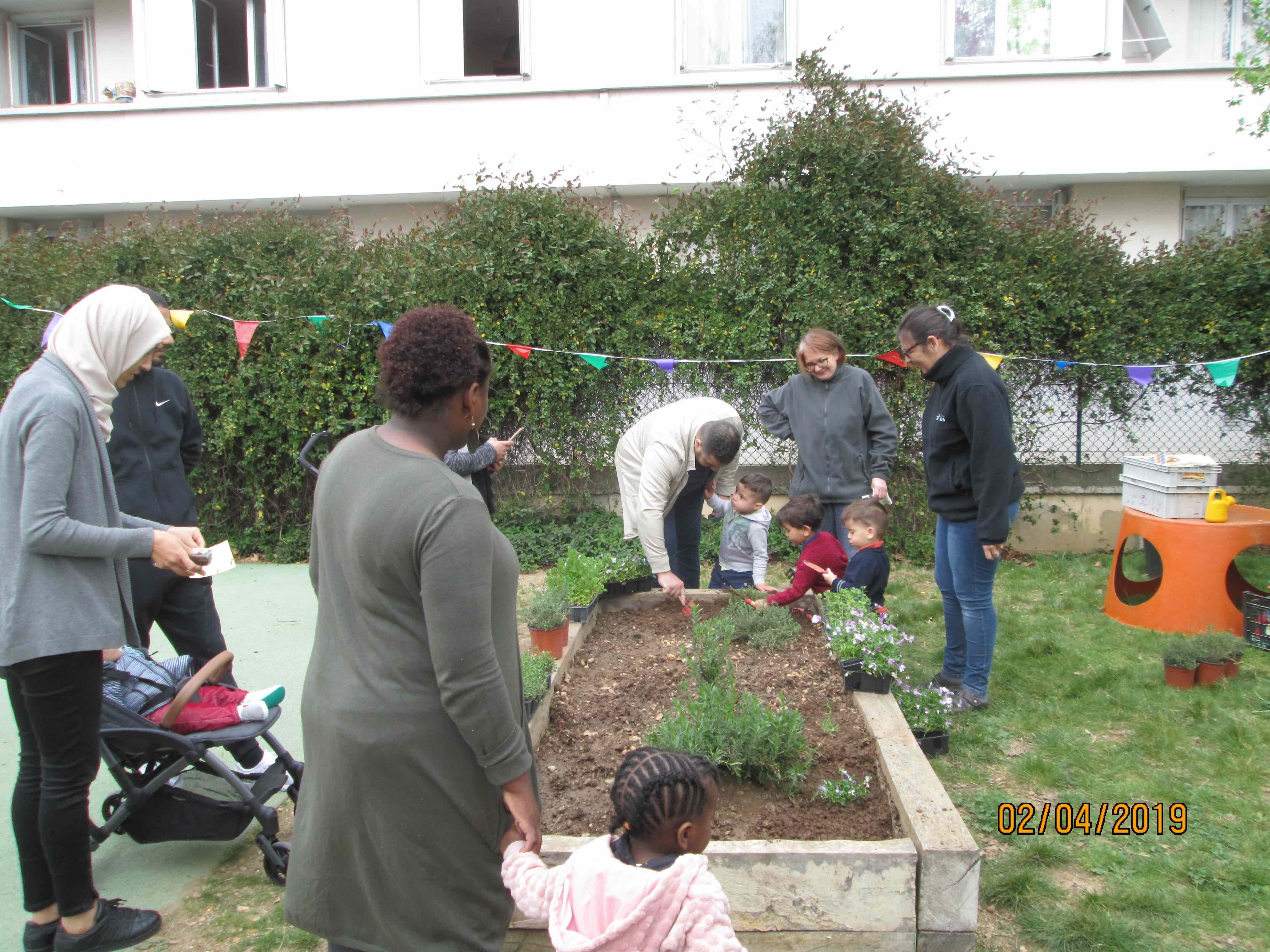 jardinage avec les aprents à lyon
