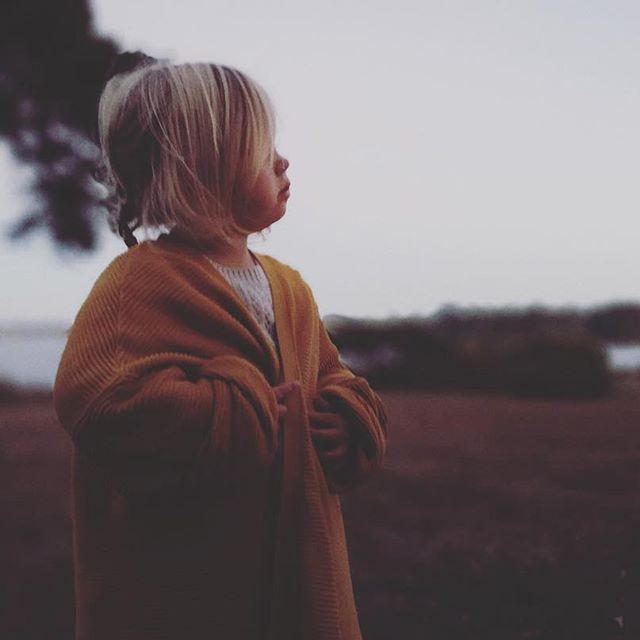 Petite fille dans un champs
