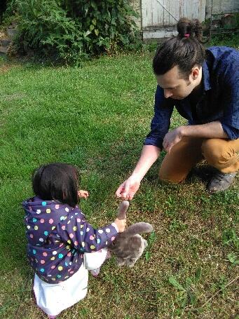 Adrien Charlot et sa fille Camille