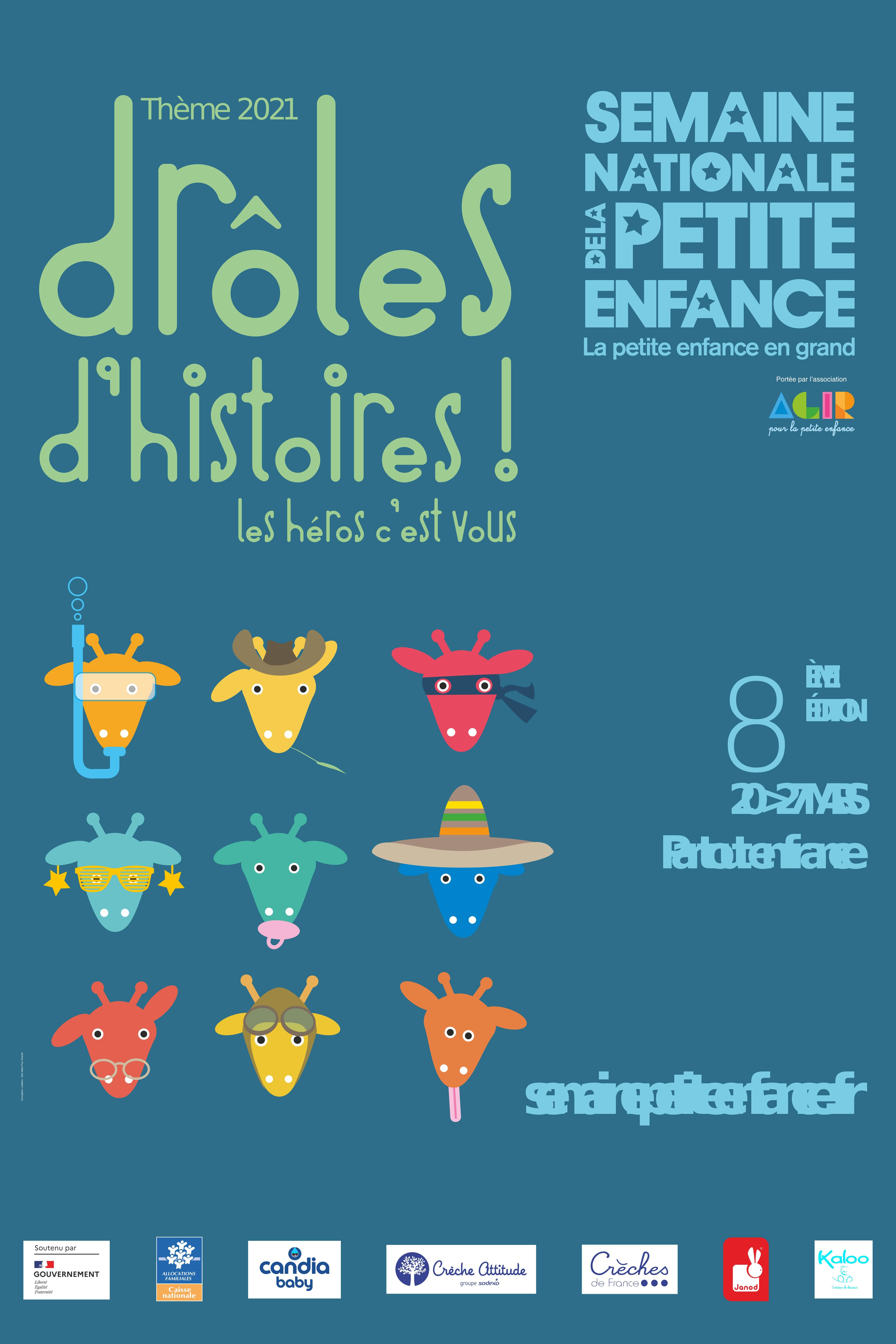Affiche semaine nationale de la petite enfance 2021