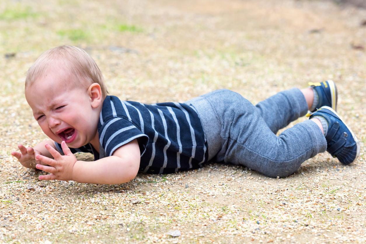 bébé chute