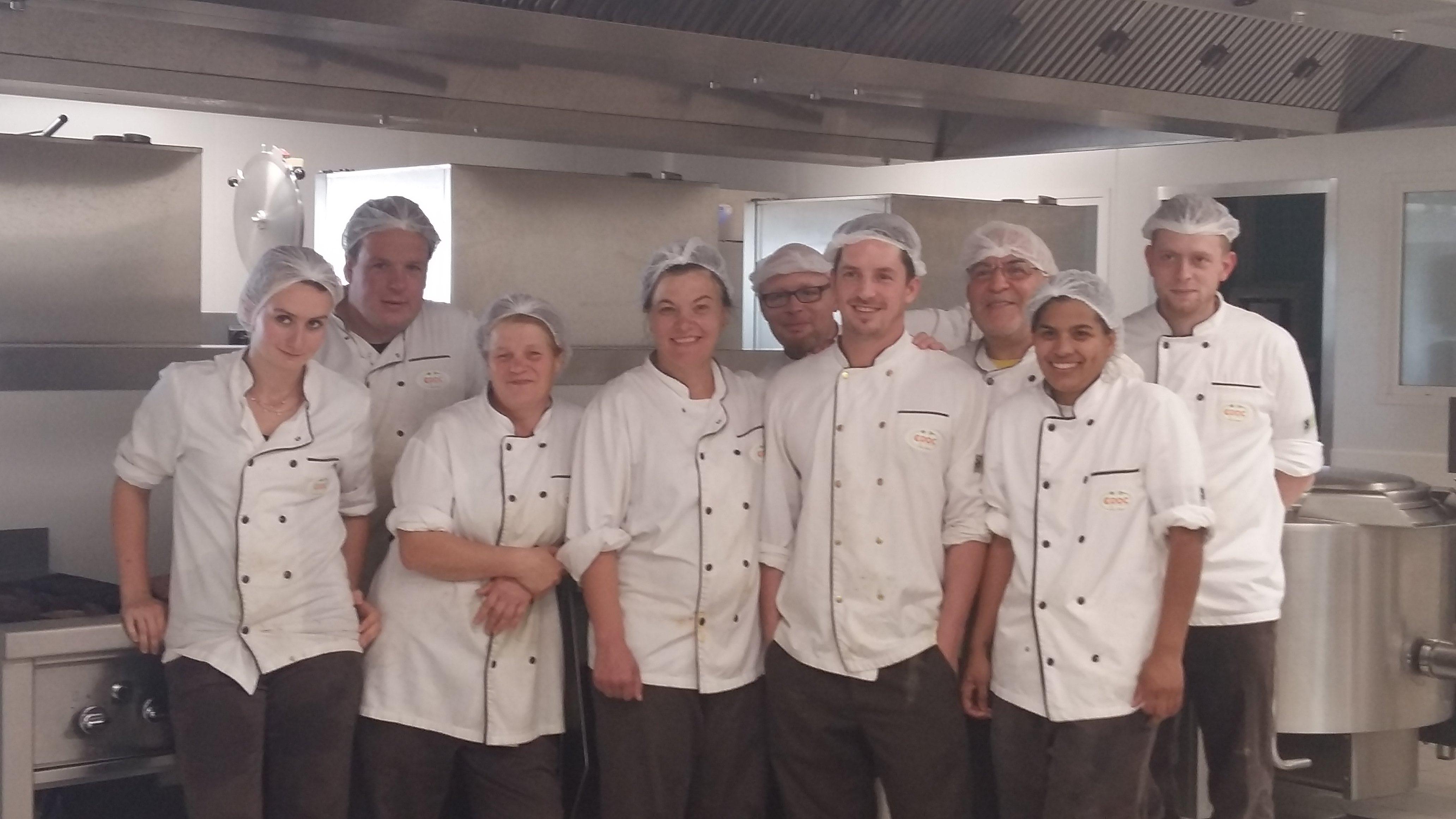 équipe cuisine croc la vie
