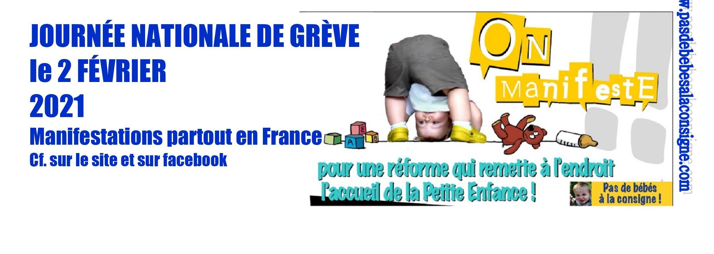 Grève Pas de bébés à la consigne le 2 février