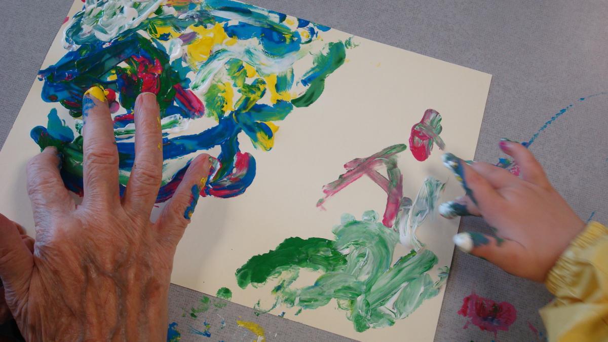 peinture au doigt