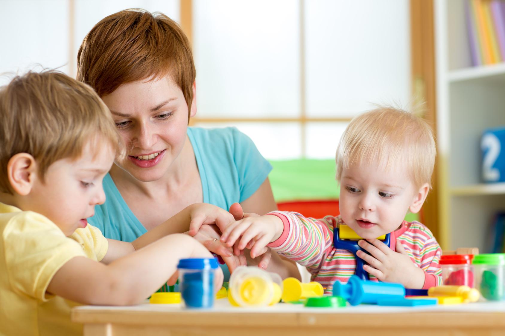 professionnelle avec plusieurs enfants