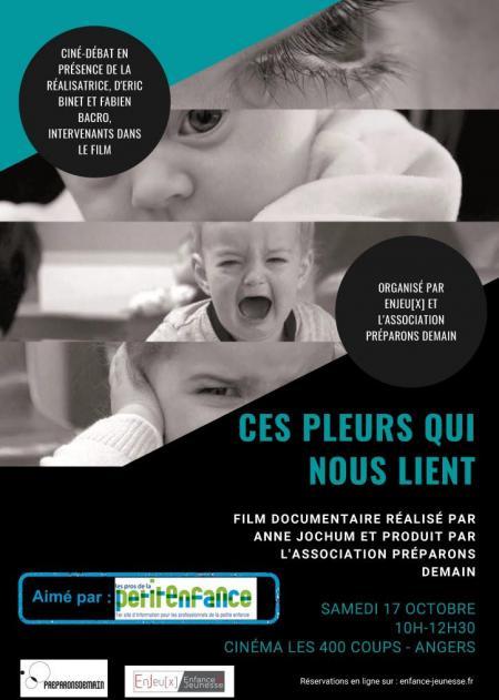 """Affiche ciné débat sur le film """"Ces pleurs qui nous lient"""""""