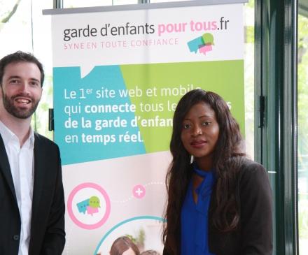Olivier Jubin et Maryse Degboe de Garde d'enfants pour tous