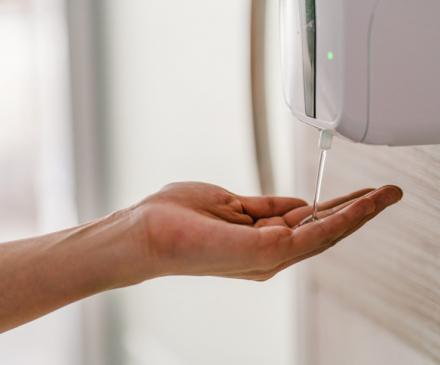 distributeur de gel hydro alcooolique
