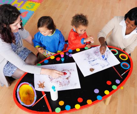 professionnelles avec enfants à l'école