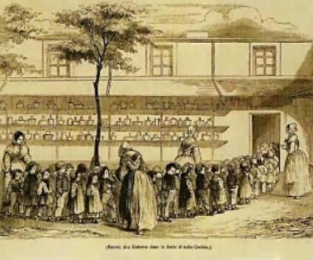 Salles d'asiles ancêtres des écoles maternelles
