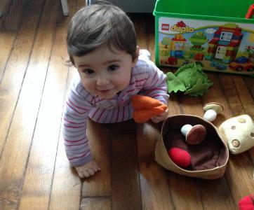 Bébé chez une assistante maternelle
