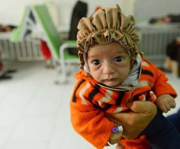Bébé victime des conflits armés