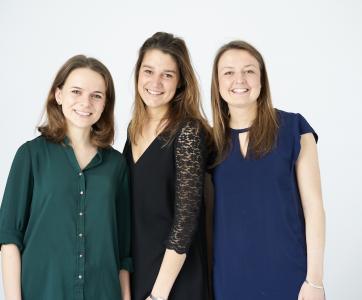 Isabelle, Pauline et Astrid